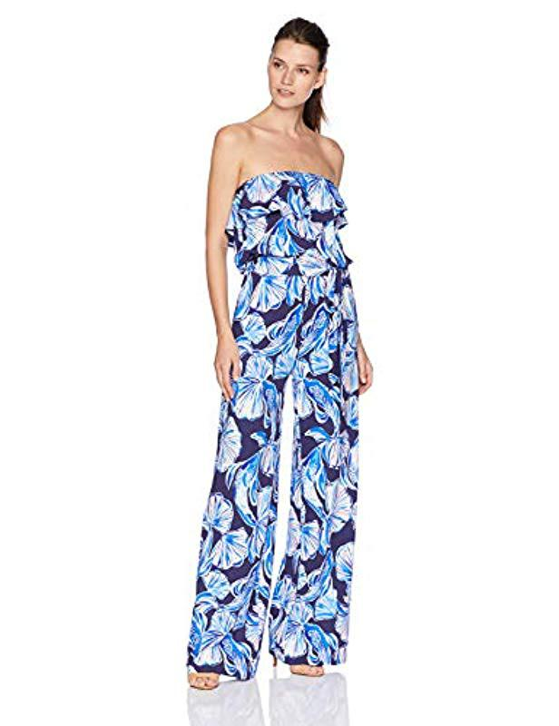 3e37fe2a8732 Lyst - Lilly Pulitzer Aleatha Jumpsuit in Blue
