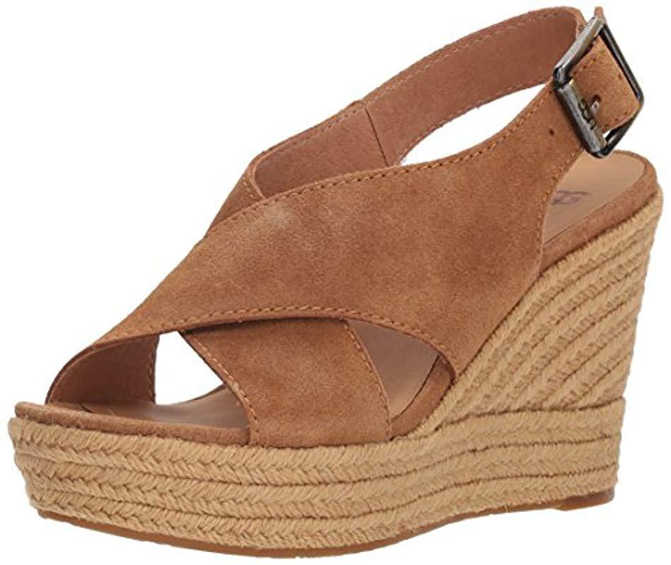 4e4566d805d Lyst - UGG Harlow Espadrille Wedge Sandal in Brown - Save 28%
