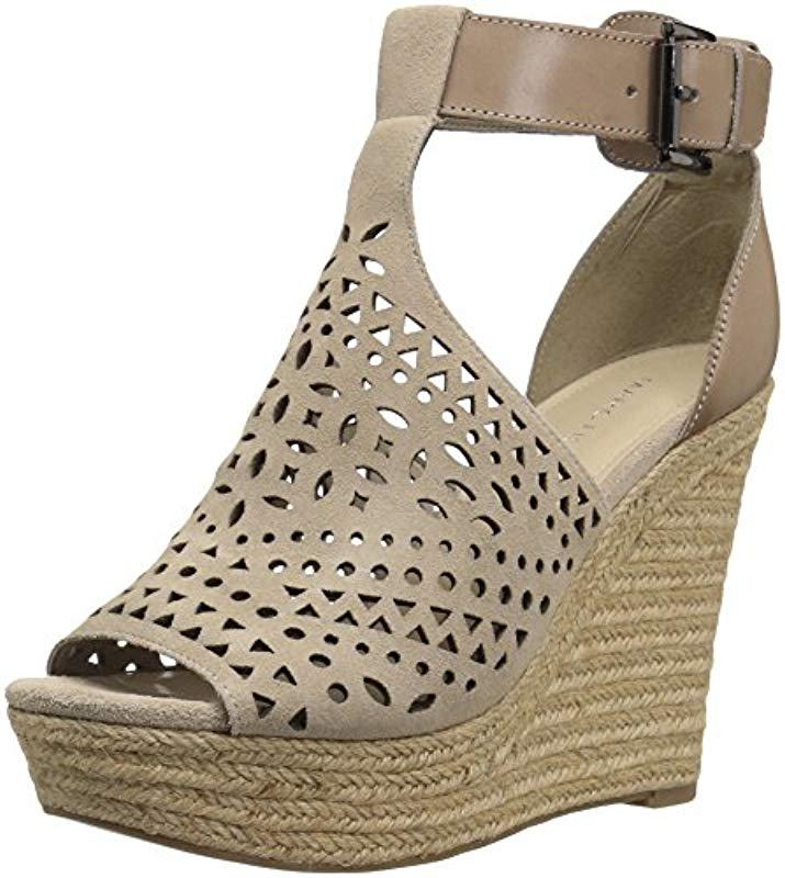 486e7b055132 Lyst - Marc Fisher Hasina Platform in Natural