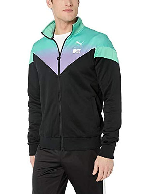6807172ca973 Lyst - PUMA X Mtv Mcs Track Top All Over Print in Black for Men