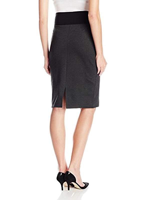 d5634f1c61f Lyst - Calvin Klein Plus Size Essential Power Stretch Pencil Skirt in Black