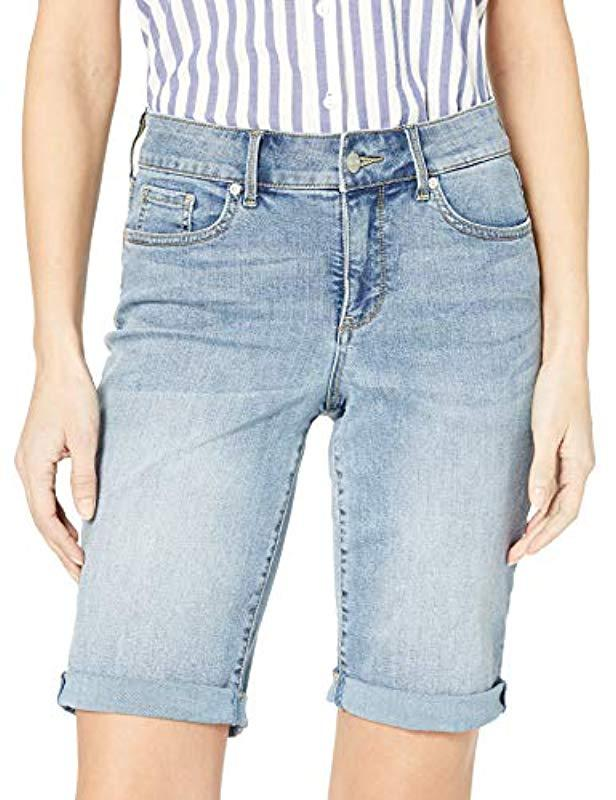 91a21ea5d Lyst - NYDJ Briella Roll Cuff Short In Cool Embrace Denim in Blue