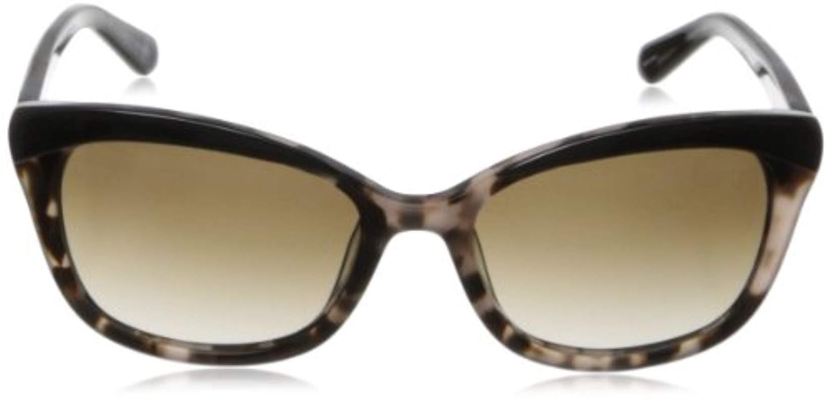 e62c4474d2 Kate Spade - Black Amara Cat-eye Sunglasses - Lyst. View fullscreen