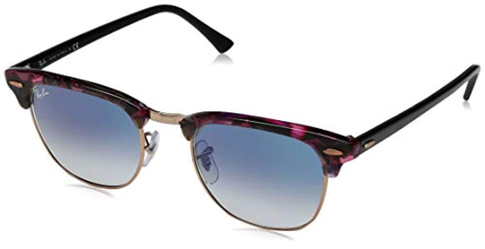 b0f062582884c Ray-Ban. Men s Gray Clubmaster Square Sunglasses
