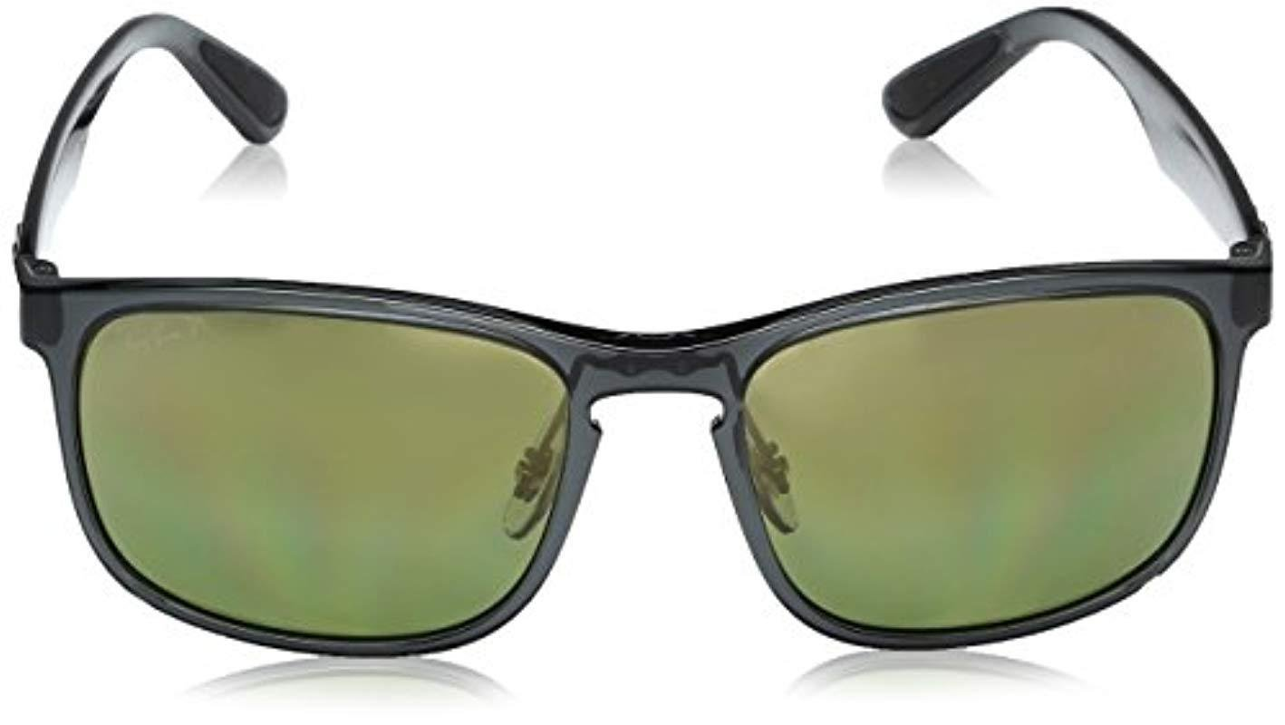 d6cd6c3853 Ray-Ban - Gray Rb4264 Chromance Lens Square Sunglasses for Men - Lyst. View  fullscreen