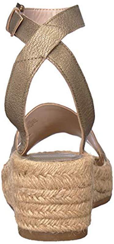 b2dc6738ab60 Nine West - Natural Edwisha Leather Wedge Sandal - Lyst. View fullscreen