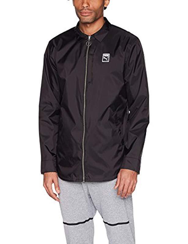 Lyst - PUMA Elemental Jacket in Black for Men c99523b3d5