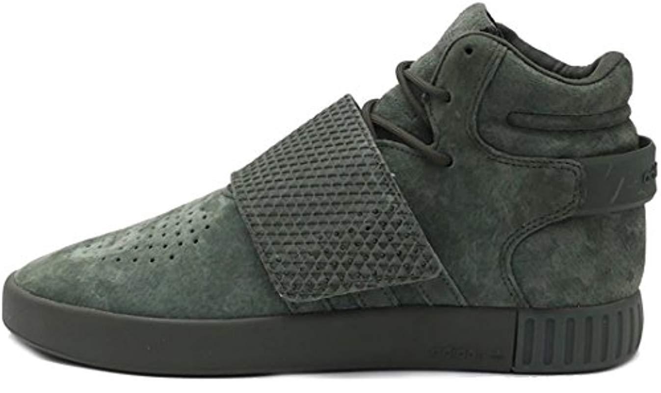 buy popular 23b20 6fc90 adidas Originals. Men s Green Tubular Invader Strap Shoes