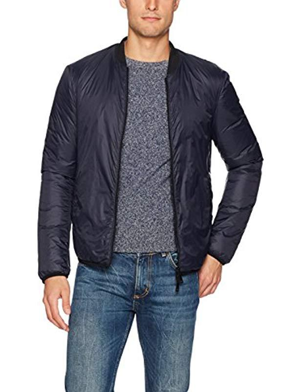8391d6cd8f79 Lyst - Armani Jeans Plus Size Nylon Full Zip Bomber Jacket in Blue ...