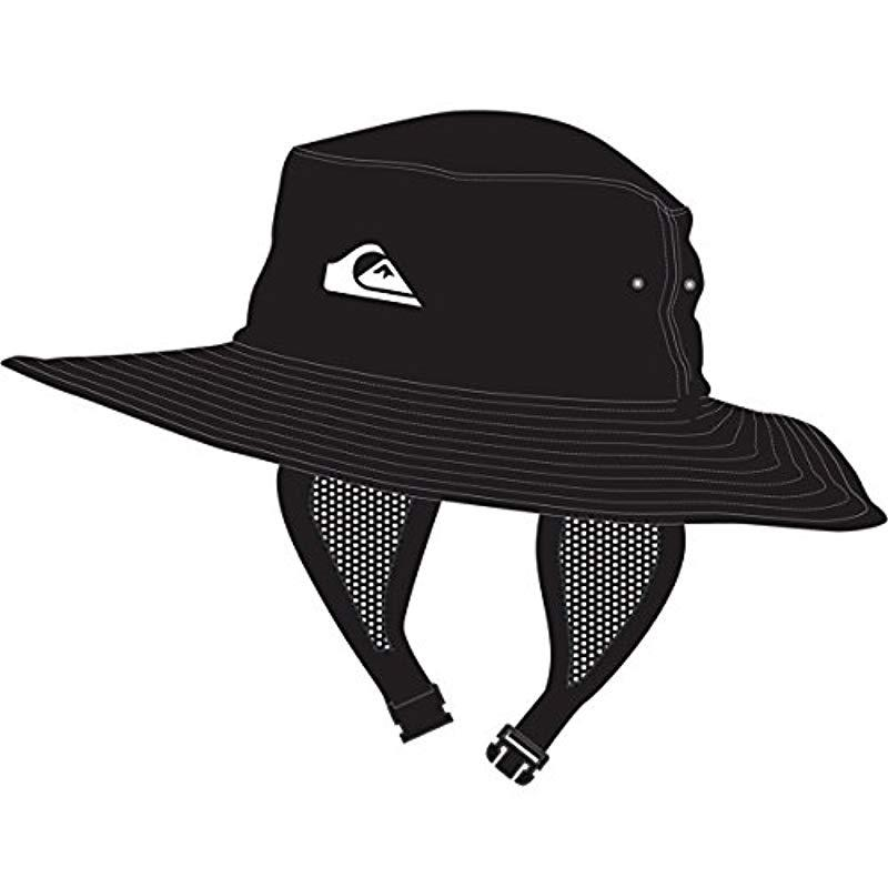 47a92855d6b Lyst - Quiksilver Bushmaster Surf Sun Protection Bucket Hat in Black ...