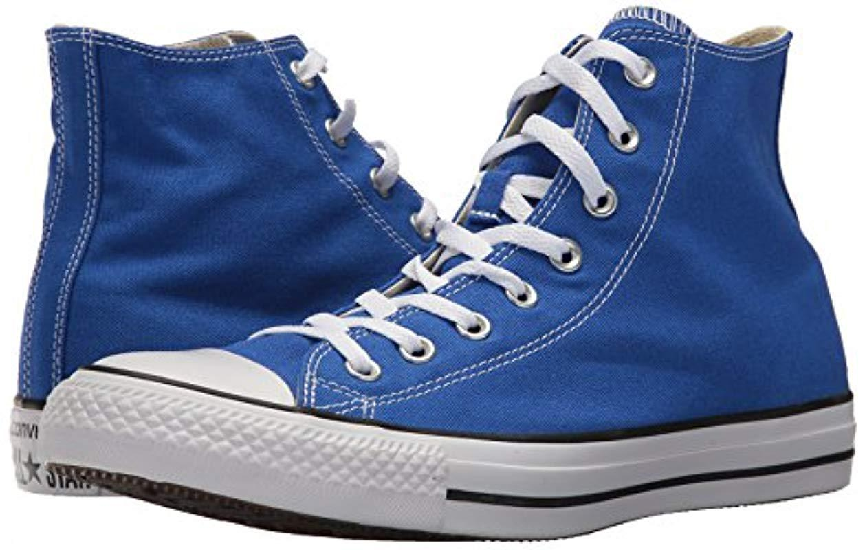 63b4a820674ff8 Lyst - Converse Chuck Taylor All Star Seasonal Canvas High Top Sneaker in  Blue - Save 2%