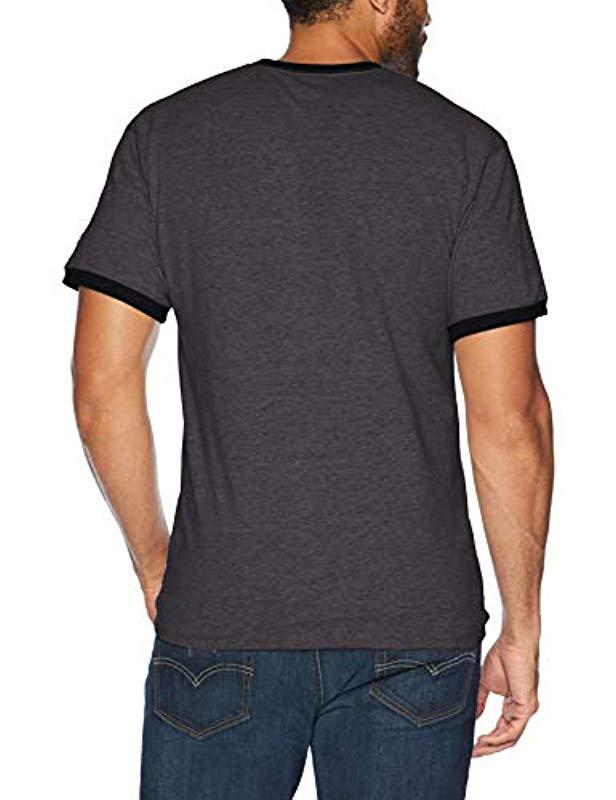 641fa4eb Lyst - Champion Classic Jersey Graphic Ringer T-shirt in Black for Men -  Save 42%