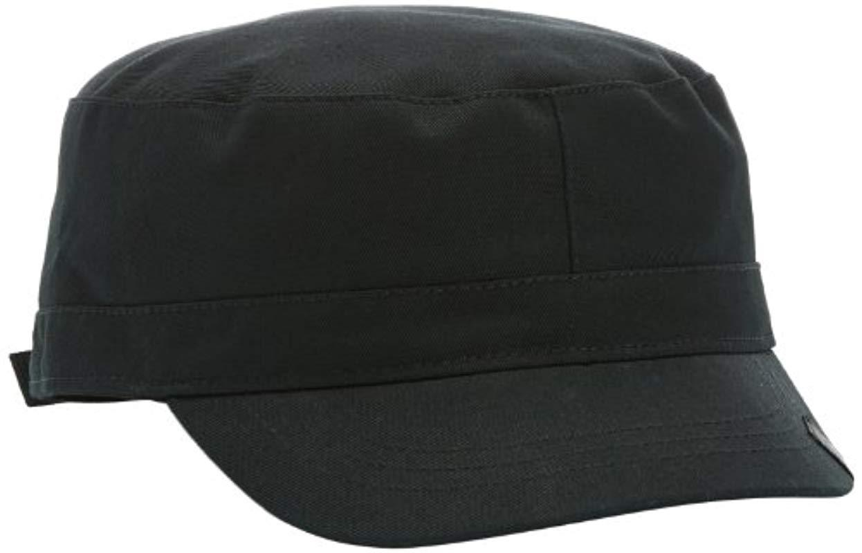 098ee176b Kangol Cotton Adjustable Army Cap in Black for Men - Lyst