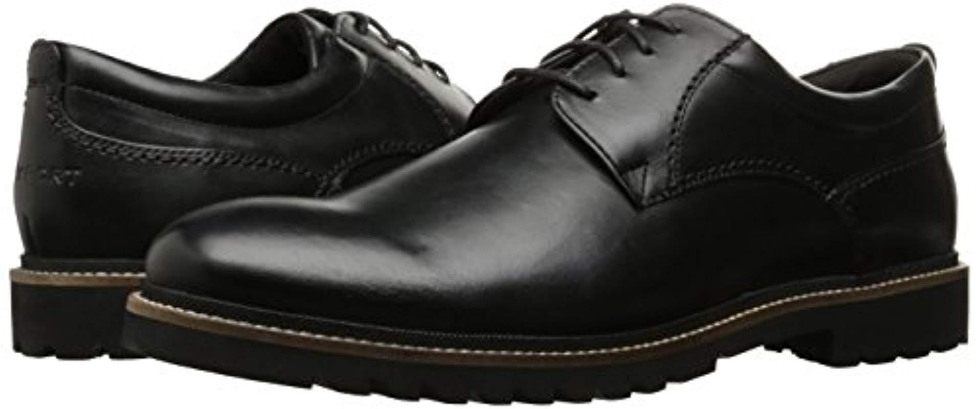 894674e5ccd92 Rockport Marshall Pt Oxford Shoes in Black for Men - Save 21% - Lyst