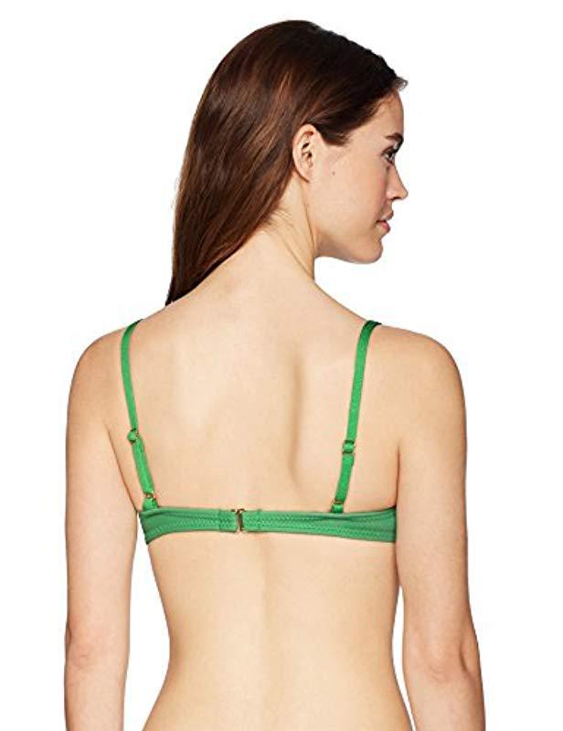 f47b54c6404e2 Lyst - Cynthia Rowley Fiji Bikini Top Swimsuit in Green