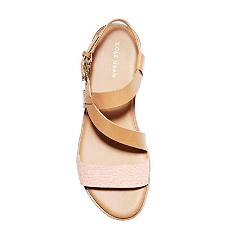 836aefd33281ce Lyst - Cole Haan Findra Strappy Sandal Ii Flat