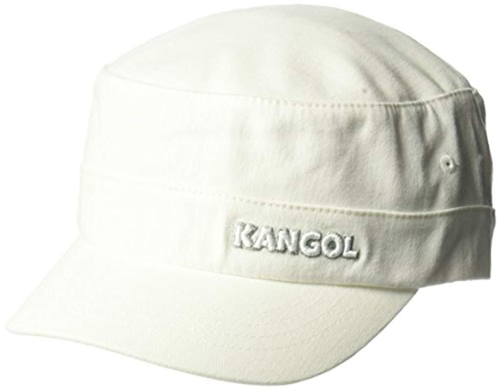 773a633d9aa Kangol - White Cotton Twill Army Cap for Men - Lyst. View fullscreen