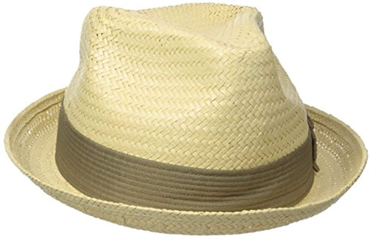 1c26e58807f Lyst - Brixton Castor Straw Fedora Hat in Yellow for Men