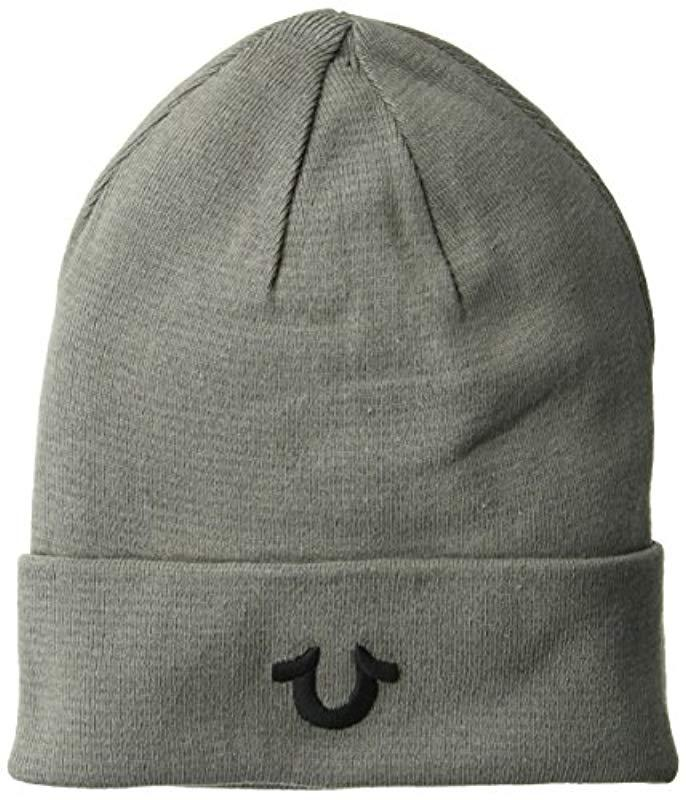 c5a2d391633 Lyst - True Religion Cotton Watchcap in Gray for Men