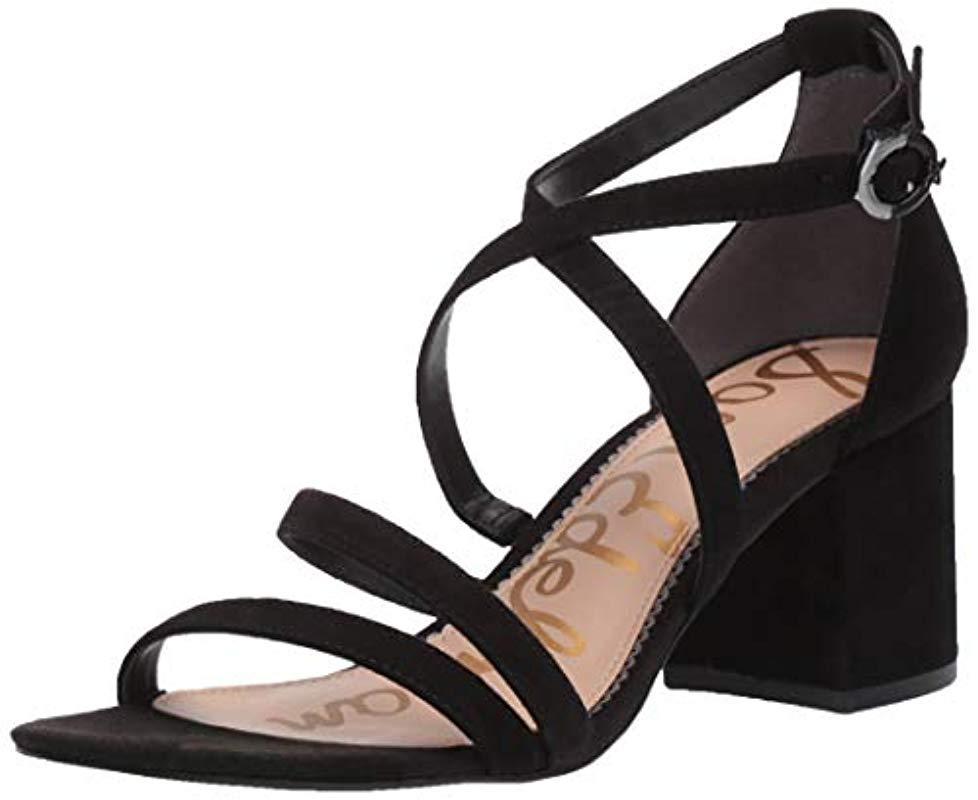 0bc8a4a35a6f Lyst - Sam Edelman Stacie Heeled Sandal in Black