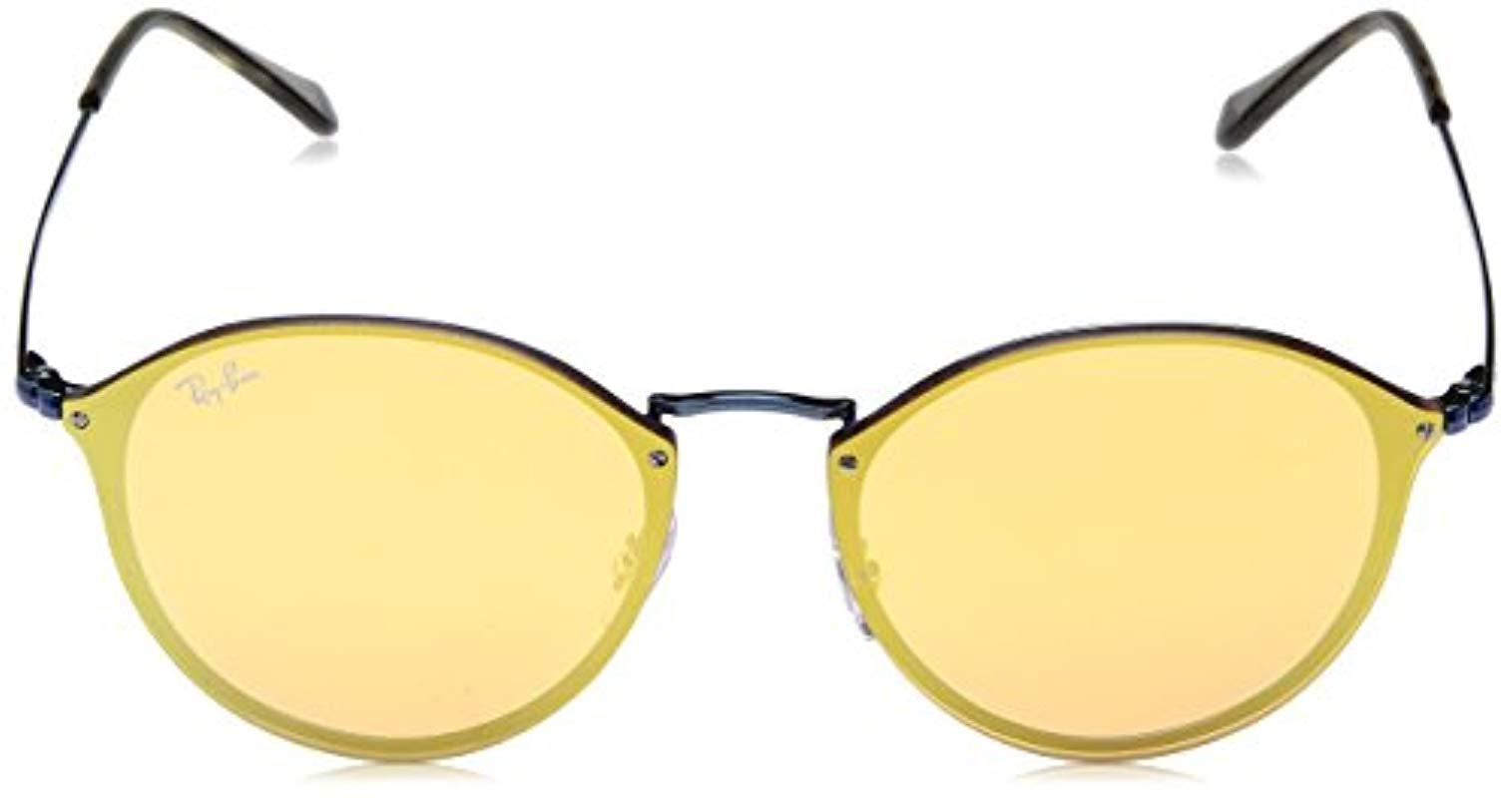 def074669d Ray-Ban - Blue Unisex Rb3574n Round Sunglasses - Lyst. View fullscreen