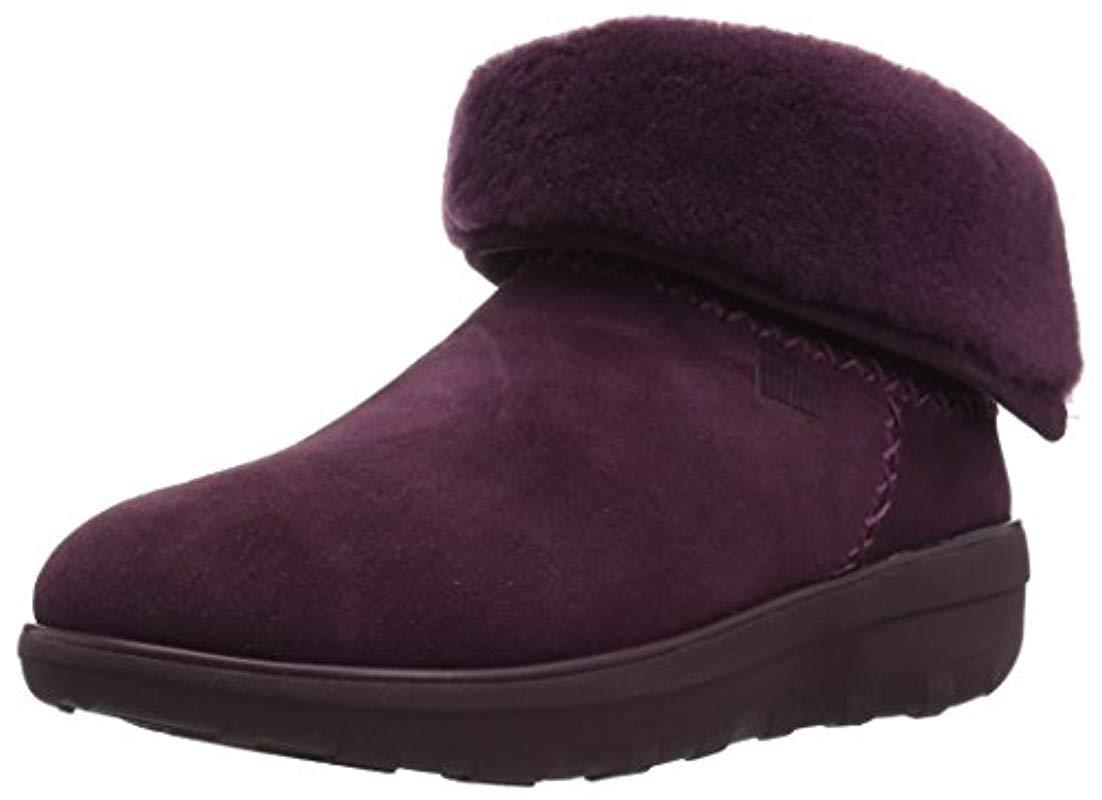 ac0f75e865a5 Lyst - Fitflop Mukluk Shorty Ii Boot in Purple - Save 65%