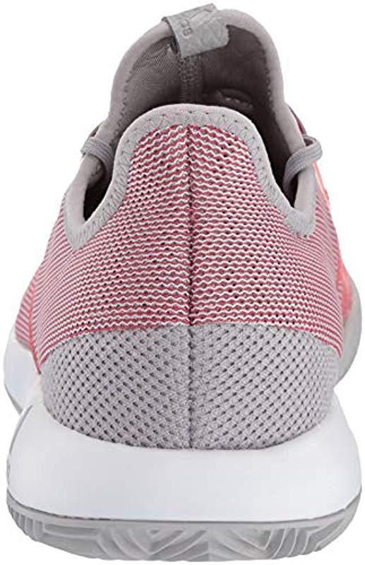 size 40 b6b4e 5b7a7 Adidas Originals - Red Adizero Defiant Bounce Tennis Shoes - Lyst. View  fullscreen
