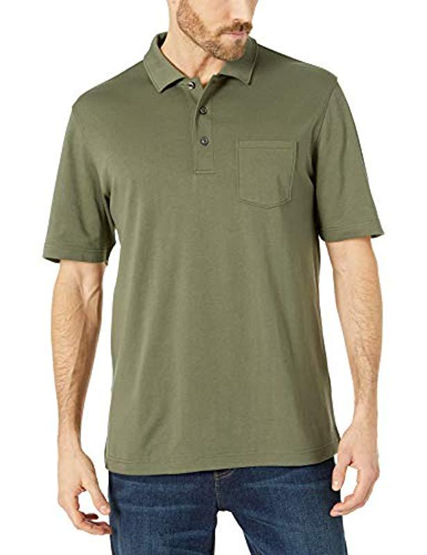 5fce1b63 Lyst - Amazon Essentials Regular-fit Jersey Polo in Green for Men