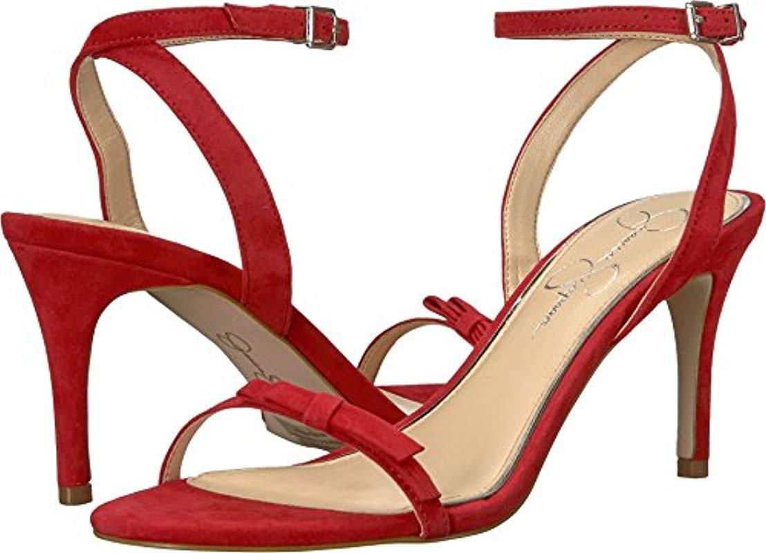 5b3b10e807d Lyst - Jessica Simpson Purella Heeled Sandal - Save 11%