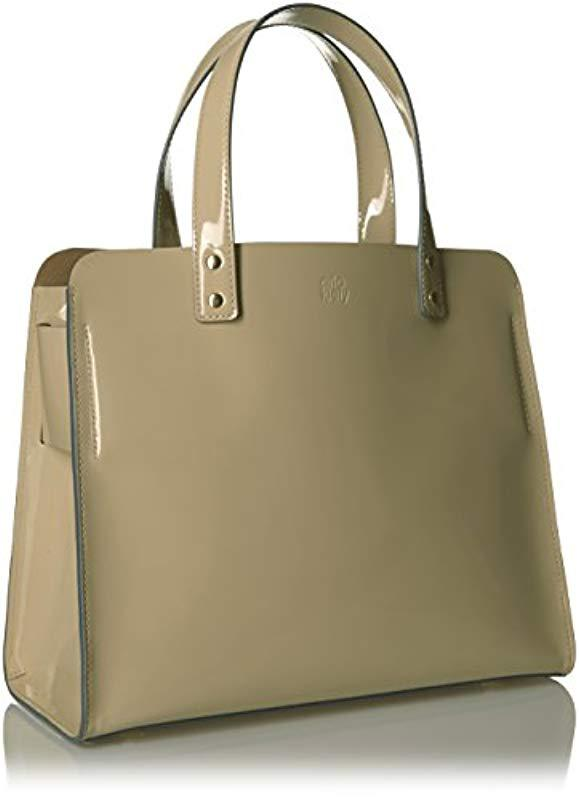 276e8de9fe Orla Kiely - Multicolor Glass Leather Linked Margot Bag - Lyst. View  fullscreen