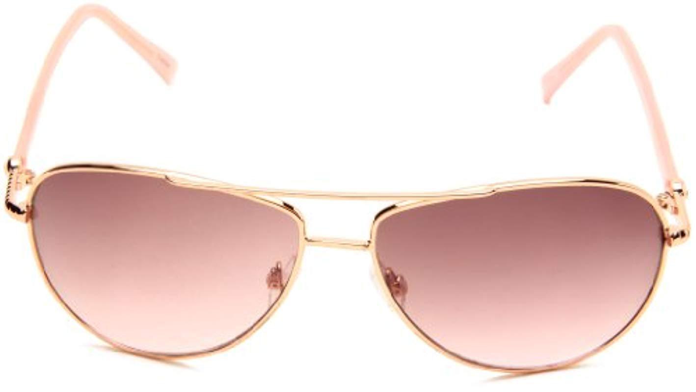 e93c64454 Steve Madden - Pink S5187 Rgld Aviator Sunglasses - Lyst. View fullscreen