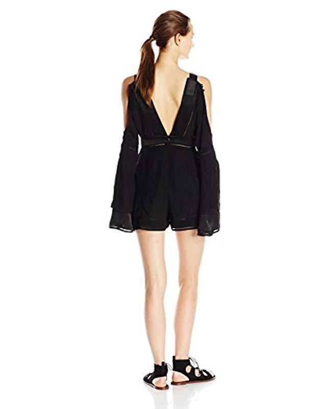 52606066f2b Lyst - Finders Keepers Unravel Playsuit in Black - Save 8.92857142857143%