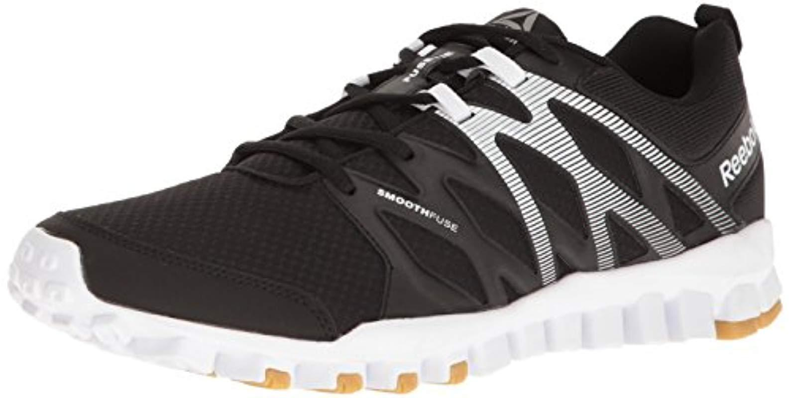 Lyst - Reebok Realflex Train 4.0 Running Shoe in Black for Men ... 9773e5881