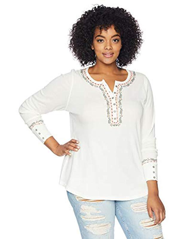 424ee0dd9c6 Lucky Brand. Women s White Plus Size Novelty ...