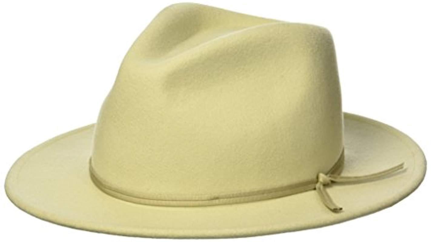 Brixton. Men s Coleman Medium Flat Brim Felt Fedora Hat.  58 From Amazon  Prime 3a2715c8d3bb
