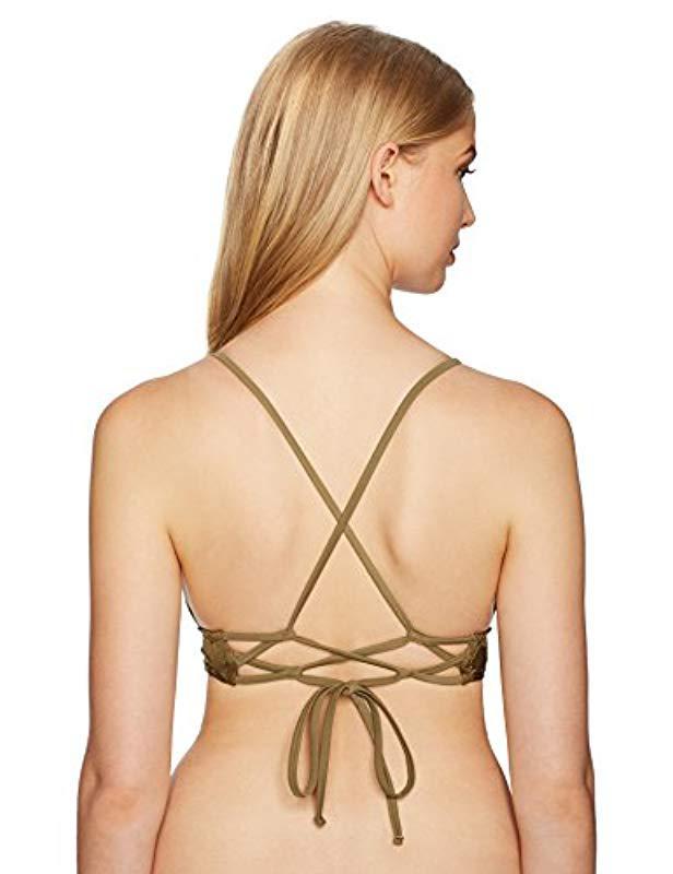 f02b83753f1 Lyst - O neill Sportswear Lana Bralette Bikini Top in Green