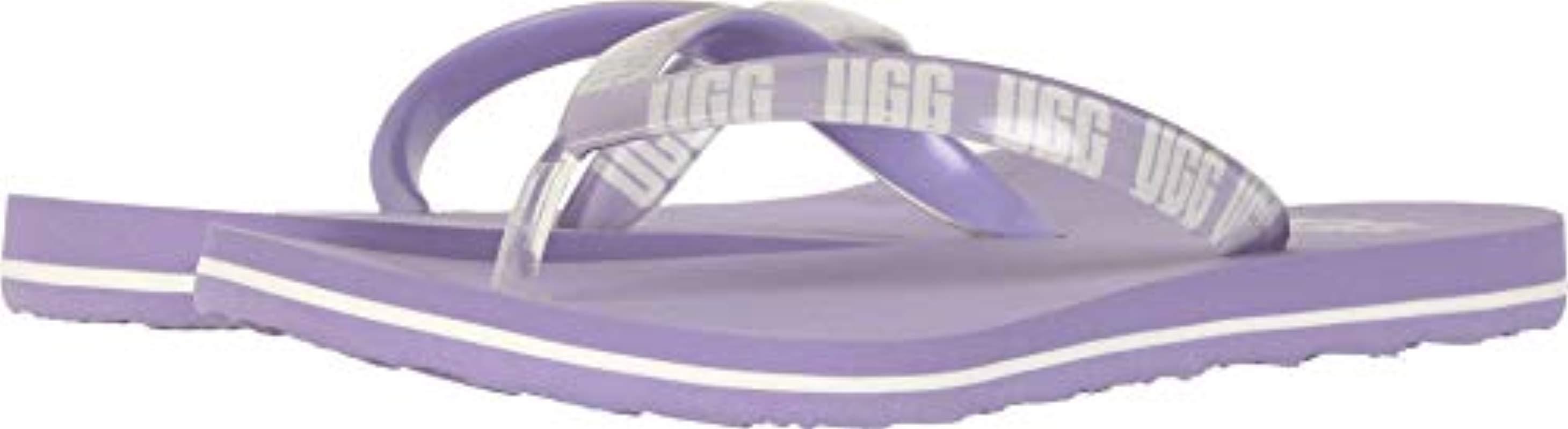 3b15feba130 Lyst - UGG Simi Graphic Flip-flop in Purple