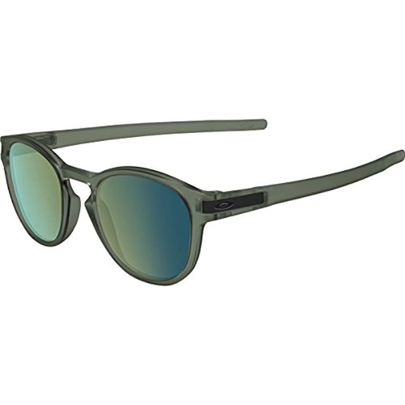a58477feba Lyst - Oakley Oo9265 Latch Non-polarized Iridium Round Sunglasses in ...