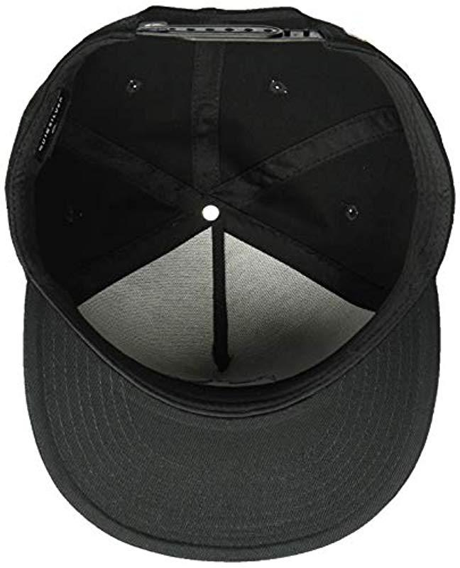 Lyst - Quiksilver Mwrm Crest Snapback Adjustable Hats in Black for Men 41517098db8b