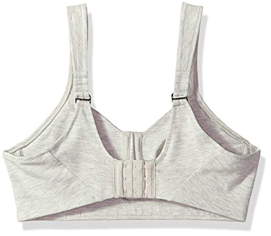 8f49f81c86 Natori - Gray Cotton Underwire Sports Bra - Lyst. View fullscreen
