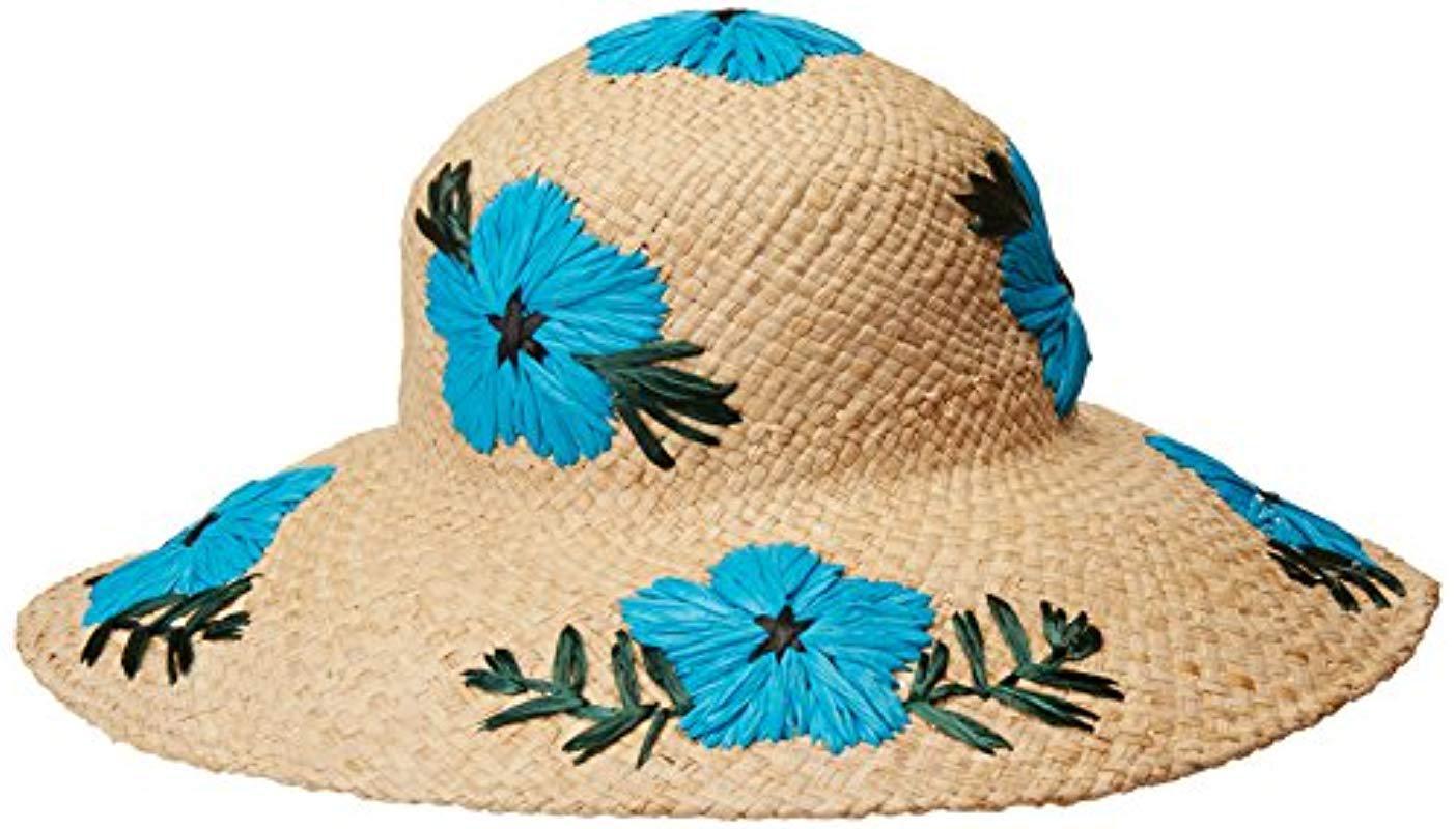 Gottex. Women s Blue Punta Cana Raffia Sunhat Packable ca6bc0033571