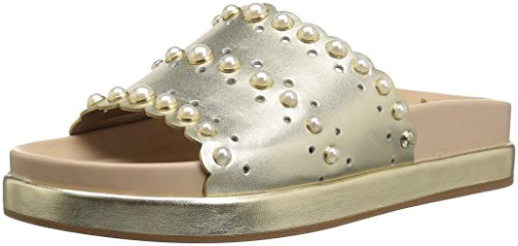 dcd4d5f5d35 Lyst - Sam Edelman Sera Slide Sandal in Metallic
