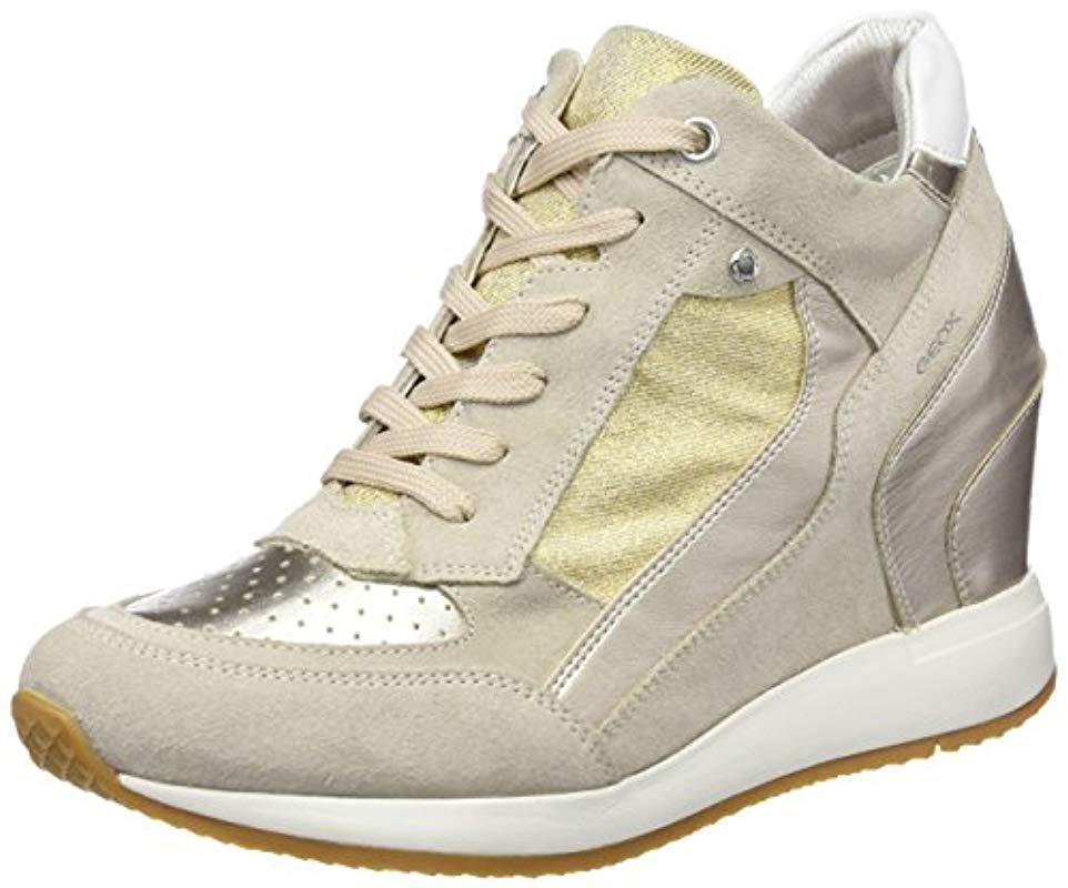 d44fa22fc5 Lyst - Geox Nydame 6 Sneaker in Metallic