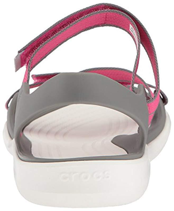 104d1c140c4c Lyst - Crocs™ Swiftwater Webbing Sandal in Pink - Save 23%