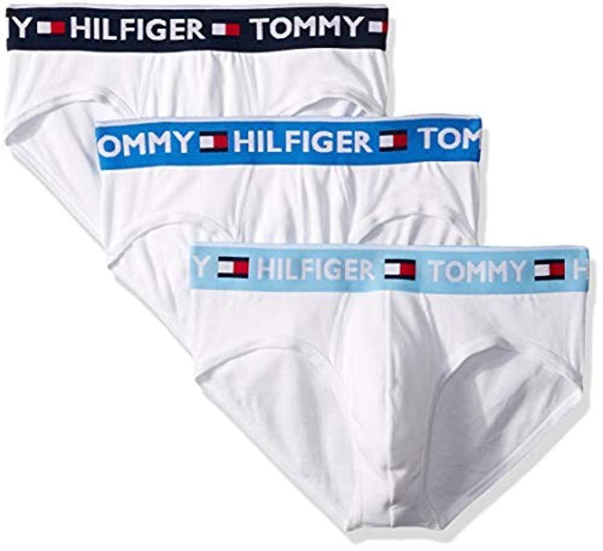 42aa64adcfb73e Lyst - Tommy Hilfiger Underwear 3 Pack Bold Cotton Briefs in White ...