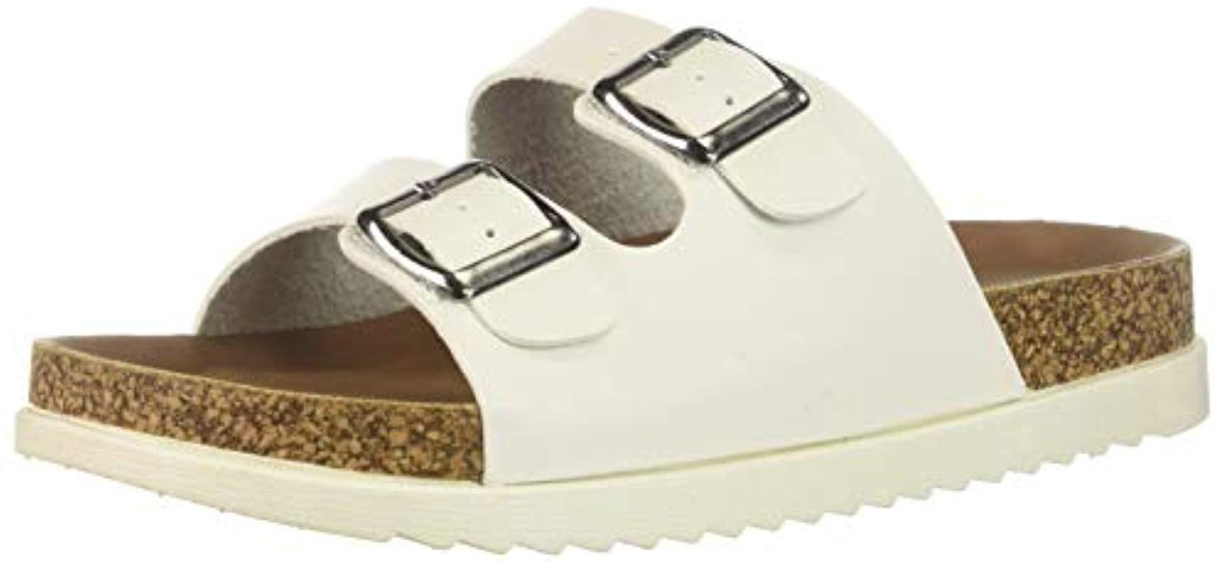 c3ba4f7125c8 Lyst - Madden Girl Goldiie Slide Sandal in White