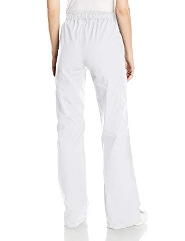 1e24f5b926e Lyst - Dickies Size Eds Signature Stretch Mid-rise Moderate Flare Leg  Pull-on Pant-tall in White