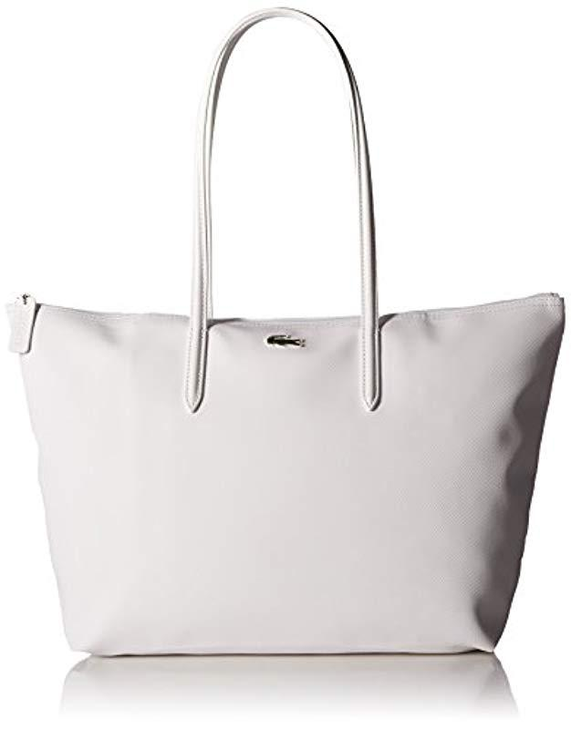 7b62a59c847316 Lyst - Lacoste L.12.12 Concept Large Shopping Bag in White - Save 14%