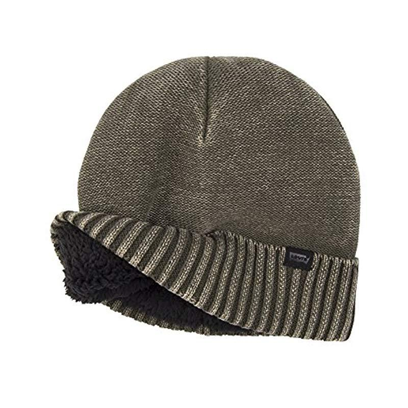 cf67b14e4d6040 Levi's - Green Warm Winter Knit Skullie Beanie for Men - Lyst. View  fullscreen