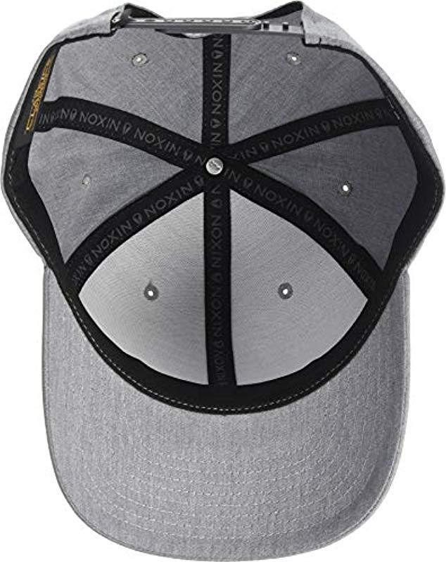 163a3ca96c188 Lyst - Nixon Lockup Snapback Hat in Gray for Men